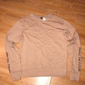 Women's Tan Sweatshirt with Black writing detail